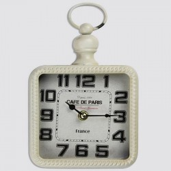 White square metal clock