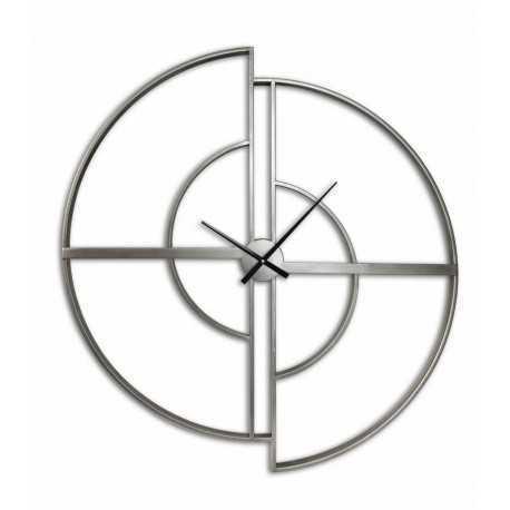 Metal wood gears clock