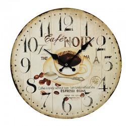 Horloge ronde café crème