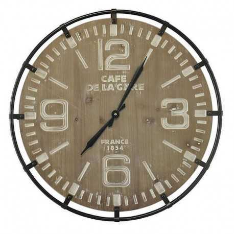 65 cm bleached wood round clock