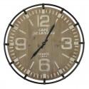 Horloge ronde bois blanchi 65 cm