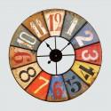 Vintage multicolored round clock 58 cm