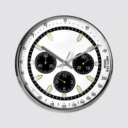 Horloge ronde tachymètre blanc 28 cm