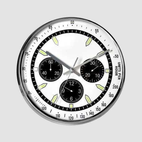 Round clock black tachometer 28 cm