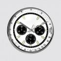 Round clock white tachometer 28 cm
