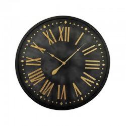Horloge ronde noire et doré 92 cm