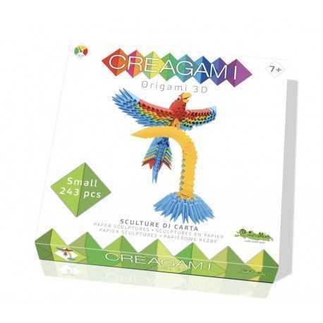 Origami, sculpture papier le perroquet