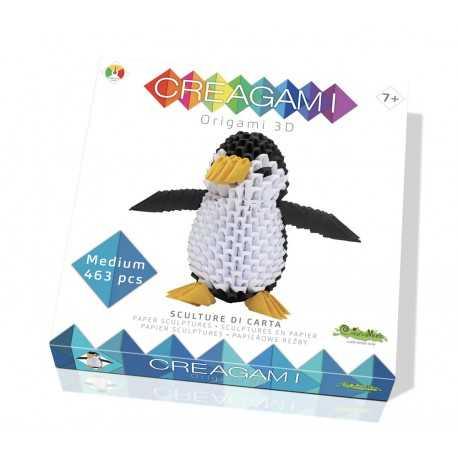 Origami, sculpture papier le pingouin