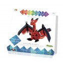 Origami, paper sculpture the dragon