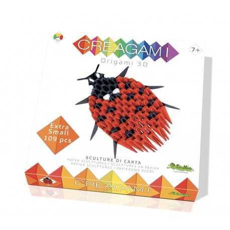 Origami, sculpture papier la coccinelle