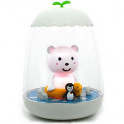 Veilleuse rechargeable petit Ako l'ours polaire