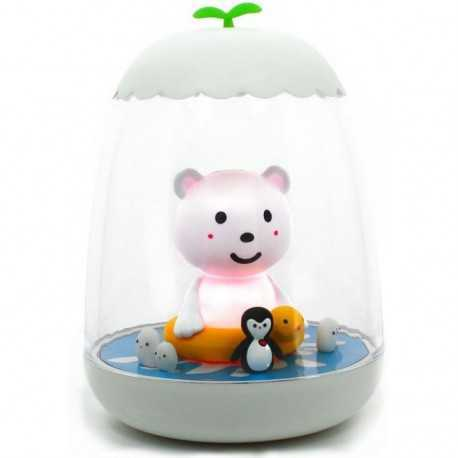 Rechargeable nightlight small Ako the polar bear