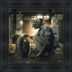 English Bulldog painting by Sylvain Binet