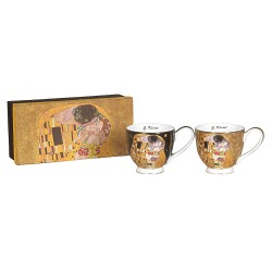 Ensemble 2 tasses déjeuner G. Klimt le baiser