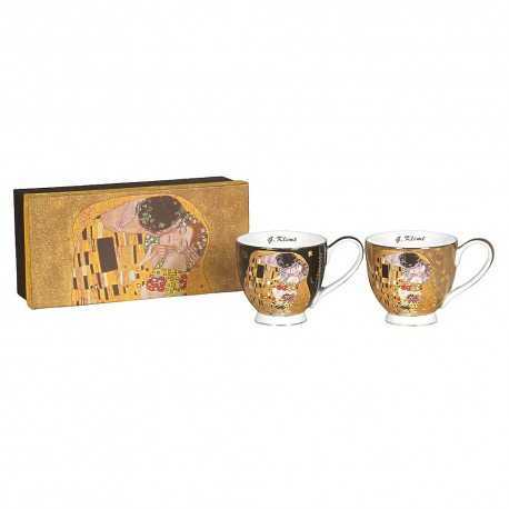 Set of 2 breakfast cups G. Klimt the kiss
