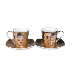 Ensemble 2 tasses à café G. Klimt le baiser