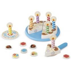 Gâteau d'anniversaire en bois pour enfant