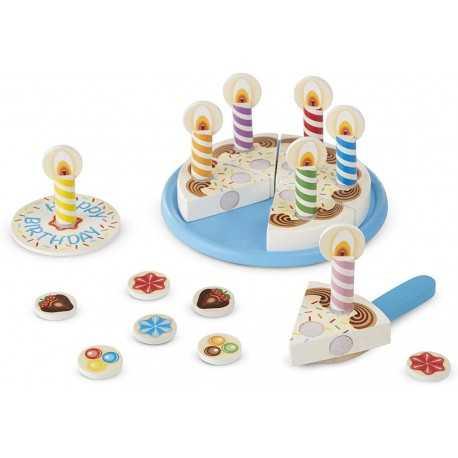 Children's wooden birthday cake