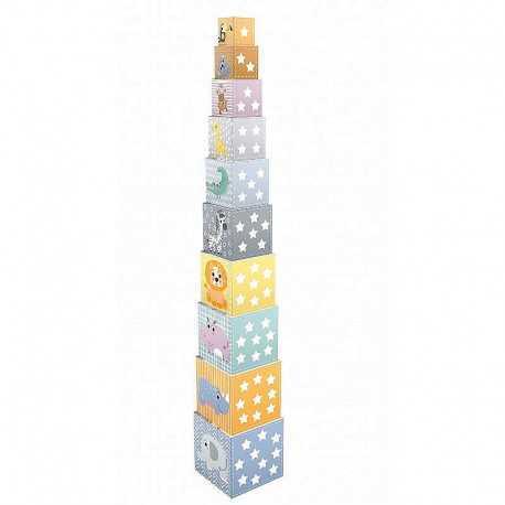 Cubes gigognes pour enfant, animaux et chiffres