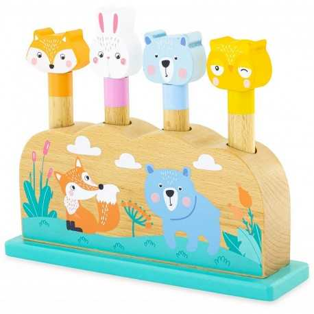 Pop-up animals, game for children