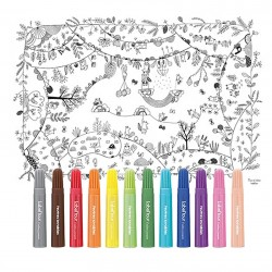 Coloring tablecloth for children, Enchanted forest