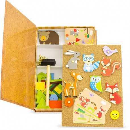 Jeux pour enfant, les petits clous, la forêt