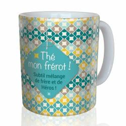 Mug, Tea mon frérot by Puce & Nino
