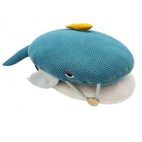 Baby cushion, large blue whale model