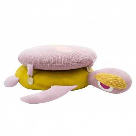 Baby cushion, large pink turtle model