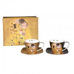 Ensemble 2 tasses à thé G. Klimt le baiser