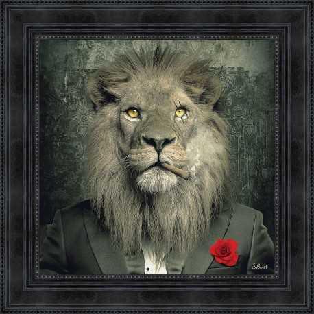 Lion Mafia painting by Sylvain Binet
