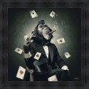 Monkey Poker painting by Sylvain Binet