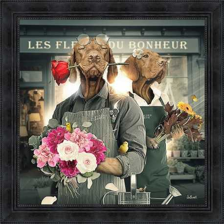 Dogs Florists painting by Sylvain Binet
