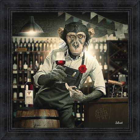 Monkey Wine Shop painting by Sylvain Binet
