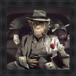 Mafia Monkey painting by Sylvain Binet