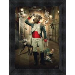 Emperor monkey painting by Sylvain Binet