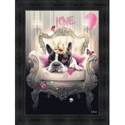 Bulldog Girly painting by Sylvain Binet