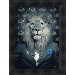 Tableau Lion Fashion par Sylvain Binet