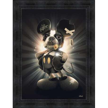 Tableau Mickey Chien par Sylvain Binet