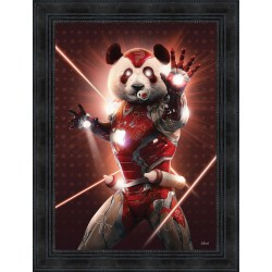 Tableau Iron Panda par Sylvain Binet
