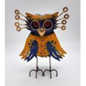 Handcrafted metal owl with glasses