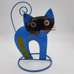 Handcrafted metal cat