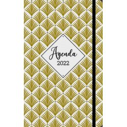 Diary 2022 illustration palmier gold