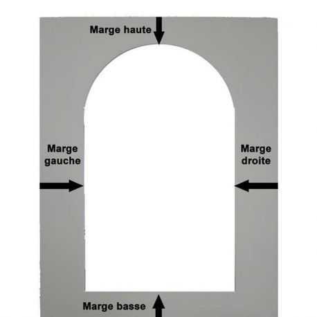 Passe-partout Crescent avec ouverture rectangle haut arrondi