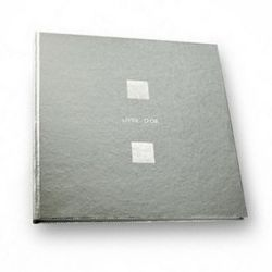 50 pages guest book 28x28 silver