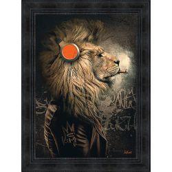 Tableau Lion Punk par Sylvain Binet