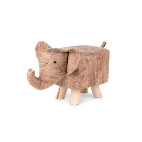 Tabouret enfant en forme d'éléphant
