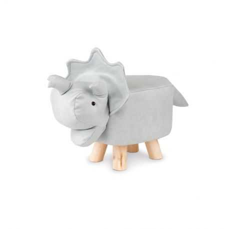 Dinosaur shaped children's stool, Striped brown color.