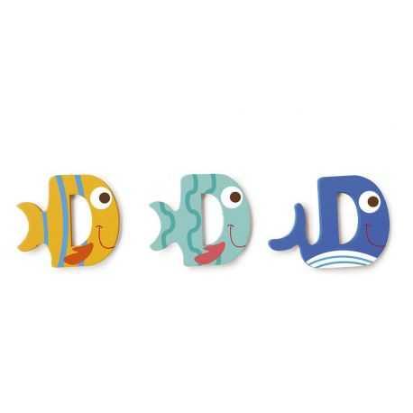 Wooden letter D for child