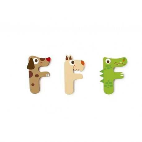 Lettre F en bois pour enfant